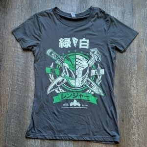 Power Ranger Green White Loot Crate T Shirt